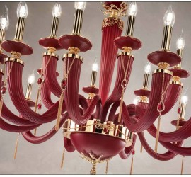 Люстра Euroluce Julienne Red_Gold