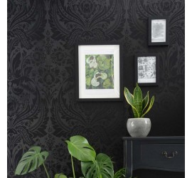 Обои флизелиновые Graham&Brown Established - Desire Black Wallpaper 103431