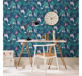 Обои флизелиновые Graham&Brown Hybryd - Botanical Midnight Wallpaper 103799