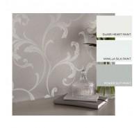 Обои флизелиновые Graham&Brown Established - Baroque Bead Platinum Wallpaper 103817