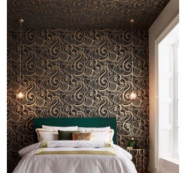 Обои флизелиновые Graham&Brown Established - Hula Swirl Noir Wallpaper 105273