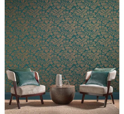Обои флизелиновые Graham&Brown Established - Forest Spiced Teal Wallpaper 105279