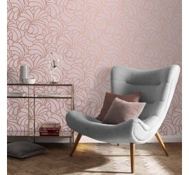 Обои флизелиновые Graham&Brown Established - Bananas Copper Blush Wallpaper 105281