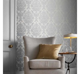 Обои флизелиновые Graham&Brown Established - Antique Gris Wallpaper 105449
