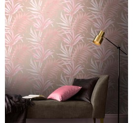 Обои флизелиновые Graham&Brown Hybryd - Yasuni Blush Wallpaper 105659