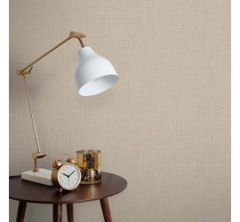 Обои флизелиновые Graham&Brown Minimalist - Linen Beige Wallpaper 105854