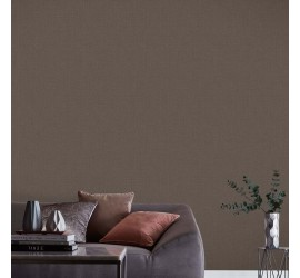 Обои флизелиновые Graham&Brown Minimalist - Linen Chocolate Wallpaper 105855