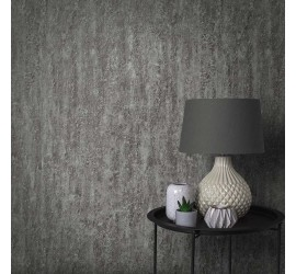 Обои флизелиновые Graham&Brown Minimalist - Orbit Deep Silver Wallpaper 105857