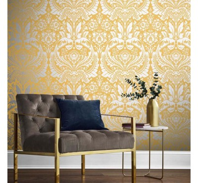 Обои флизелиновые Graham&Brown Established - Desire Saffron Wallpaper 105902