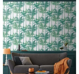 Обои флизелиновые Graham&Brown Hybryd - Jungle Luscious Green Wallpaper 105913