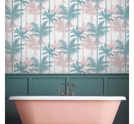 Обои флизелиновые Graham&Brown Hybryd - Jungle Blush Green Wallpaper 105915