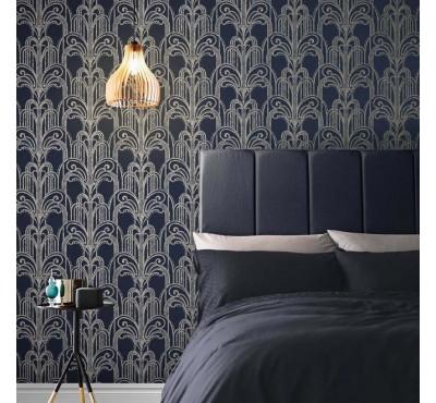 Обои флизелиновые Graham&Brown Established - Art Deco Midnight Wallpaper 105920