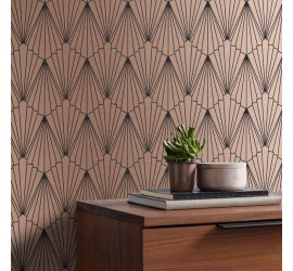 Обои флизелиновые Graham&Brown Established - Rene Rose Gold Wallpaper 105927