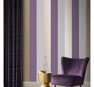 Обои флизелиновые Graham&Brown Established - Figaro Mulberry Wallpaper 106352