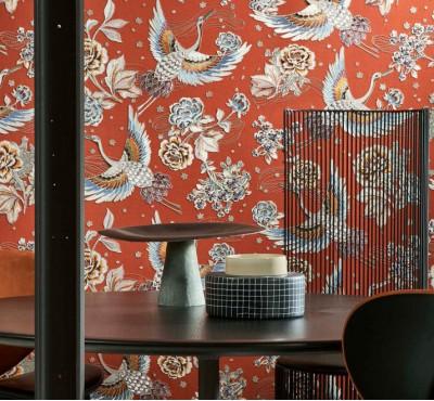 Обои текстильные Arte - Takara Crane