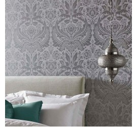 Обои флизелиновые Graham&Brown Established - Desire Silver Wallpaper 103432