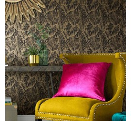 Обои флизелиновые Graham&Brown Hybryd - Tropical Charcoal Wallpaper 103764