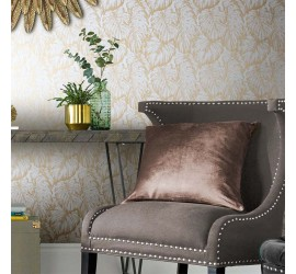 Обои флизелиновые Graham&Brown Hybryd - Tropical Pearl Gold Wallpaper 103765