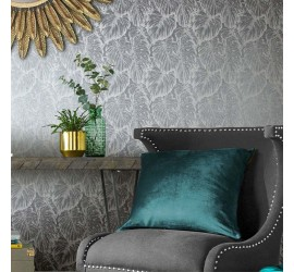Обои флизелиновые Graham&Brown Hybryd - Tropical Pewter Wallpaper 103769