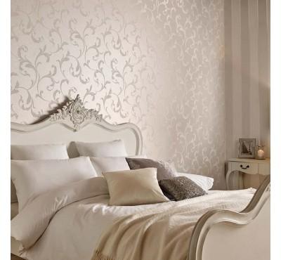 Обои флизелиновые Graham&Brown Established - Baroque Bead Pearl Wallpaper 103816