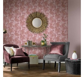Обои флизелиновые Graham&Brown Hybryd - Ubud Blush Wallpaper 104280