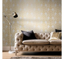 Обои флизелиновые Graham&Brown Established - Art Deco Gold and Pearl Wallpaper 104296