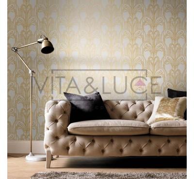 Обои флизелиновые Graham&Brown Established - Art Deco Gold and Pearl Wallpaper 104296