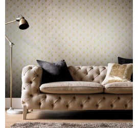 Обои флизелиновые Graham&Brown Established - Fan Gold and Pearl Wallpaper 104300