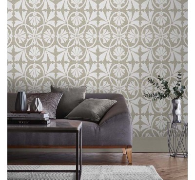Обои флизелиновые Graham&Brown Established - Thrones Chalk Taupe Wallpaper 105274