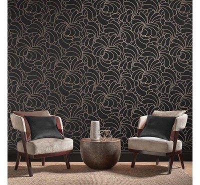 Обои флизелиновые Graham&Brown Established - Bananas Rose Noir Wallpaper 105280