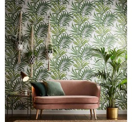 Обои флизелиновые Graham&Brown Hybryd - Yasuni Lush Green Wallpaper 105662