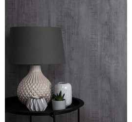 Обои флизелиновые Graham&Brown Minimalist - Wood Grain Grey Wallpaper 105861