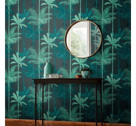 Обои флизелиновые Graham&Brown Hybryd - Jungle Mood Green Wallpaper 105916