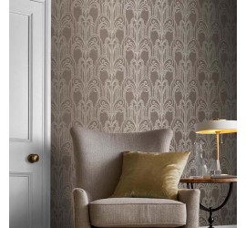 Обои флизелиновые Graham&Brown Established - Art Deco Natural Wallpaper 105921