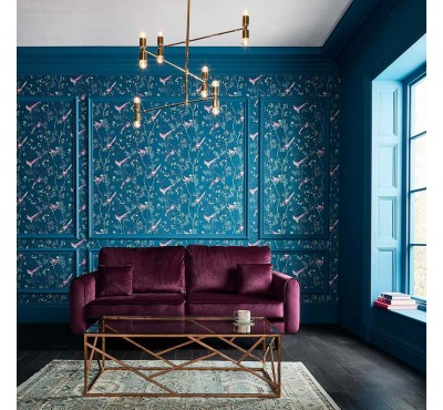 Обои флизелиновые Graham&Brown Hybryd - Tori Teal Wallpaper 106390