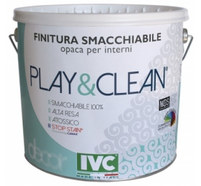 Краска интерьерная IVC Play&Clean